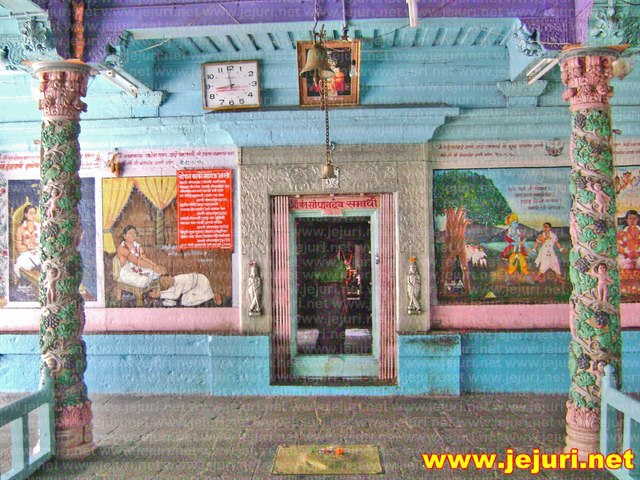 sopandev temple mandap saswad